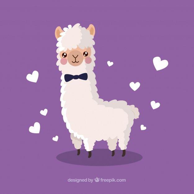 Download Cute Alpaca Background For Free Illyustracii Risunki