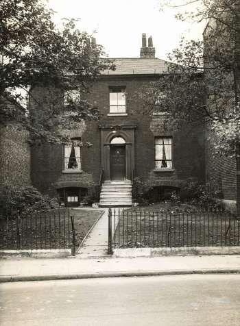 George Road, Bermondsey, 1935.  This photograph is of number 97 Grange Road, Bermondsey.  Although by the 1930s the house was hemmed in by its Victorian neighbours, it was originally built c.1780 as a detached villa and stood on the main road in open fields beyond the hub of the town.