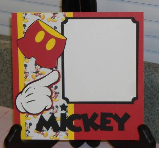 Swap-Disney Mickey 6x6 by tayransom - Cards and Paper Crafts at Splitcoaststampers