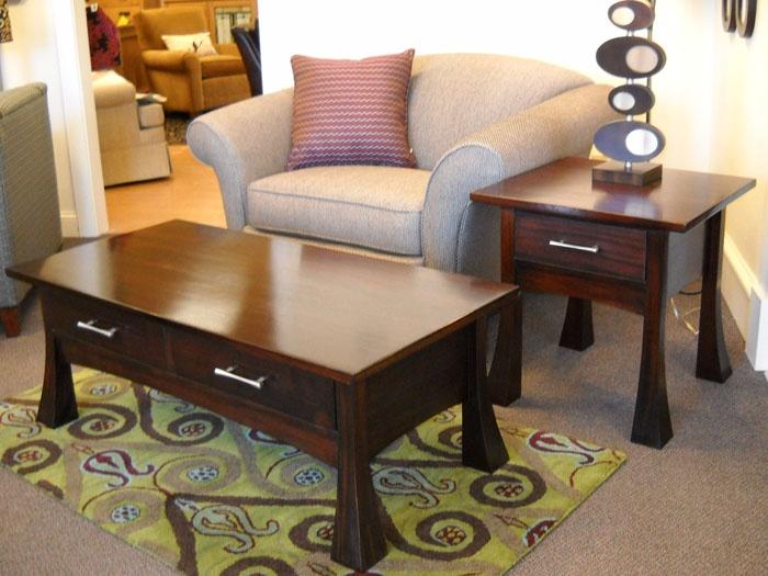 Bonza Living Room Set Shown in Mahogany with a Mahogany Dye