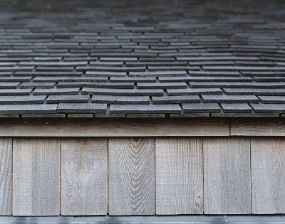 Shingle roof edge detail by, C.F. Moller Architects