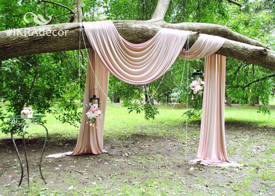 Оформление президиума с гирляндой из зелени - Свадьбы - Сообщество декораторов текстилем и флористов