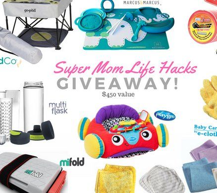 27 ways to enter and win $450.00 worth of mom life hack products! Complete your entry now.
