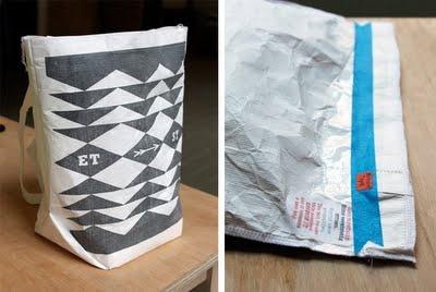 DIY tyvek recycled mail envelope tote