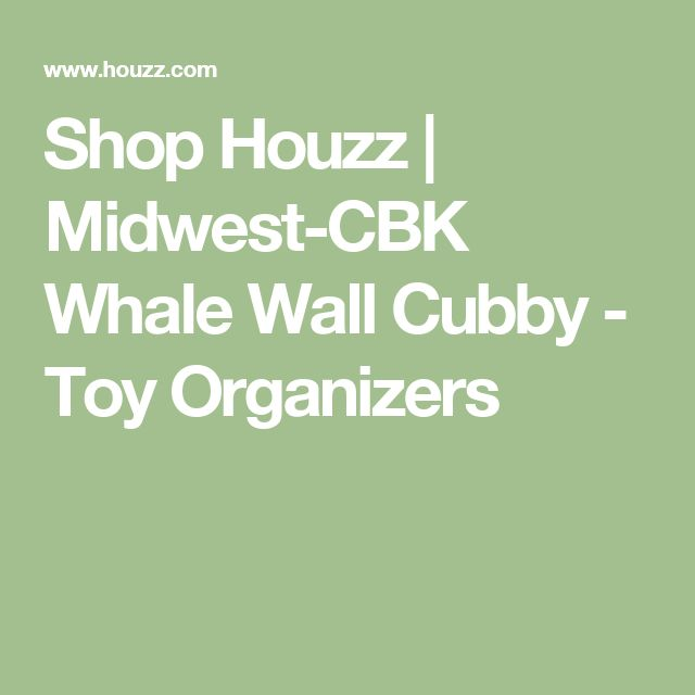 Shop Houzz | Midwest-CBK Whale Wall Cubby - Toy Organizers