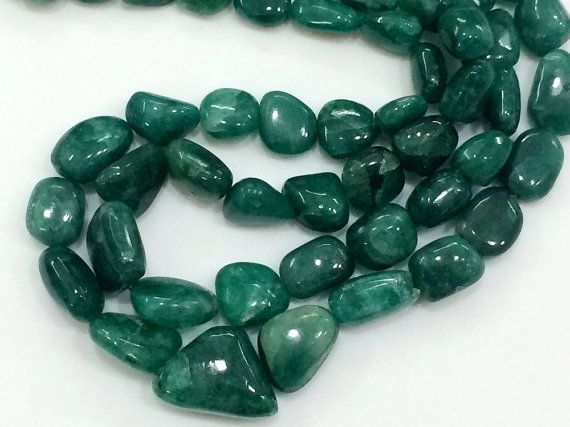 Emerald Shaded Beads Emerald Beryl Nuggets Shaded by gemsforjewels