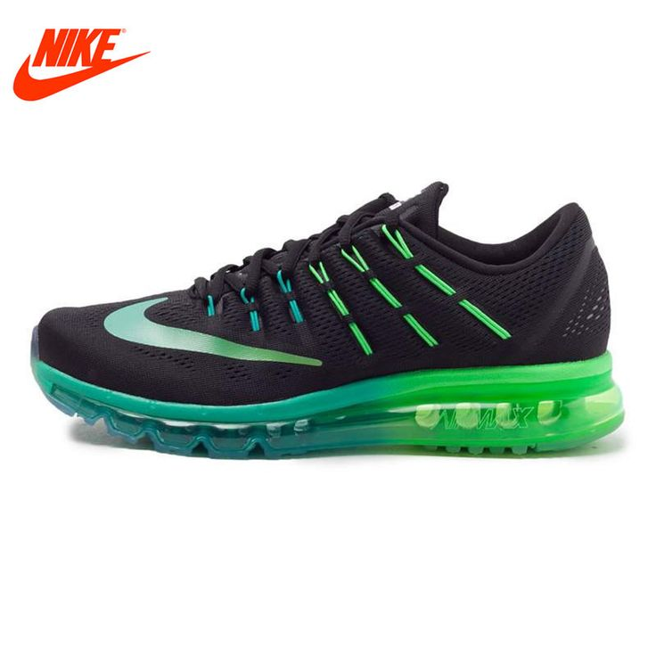 D'origine nike respirant air max hommes de chaussures de course sneakers  bleu vert semelle