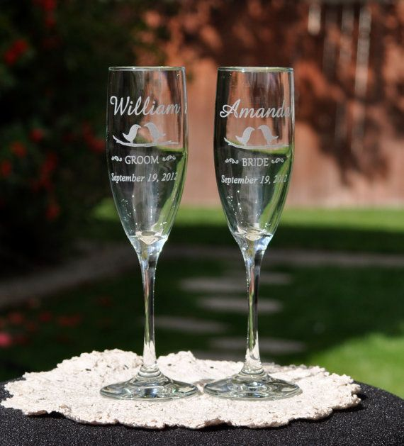 86 Best Wedding Champagne Glasses Images On Pinterest