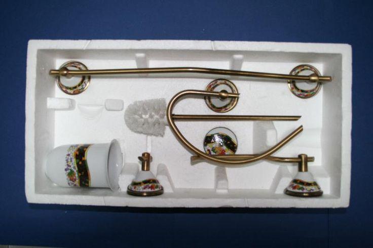 Estuche porcelana y lat n modelo con c ba os modernos for Accesorios bano porcelana