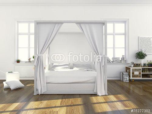 Schlafzimmer mit Himmelbett