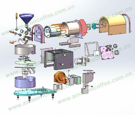 Dalian Amazon Coffee Co DL-A721-S : machine and layout