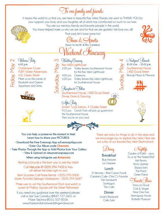 Custom Key West Itinerary for back of CW Designs Custom by cwdesigns2010, $60.00 cws-designs.com