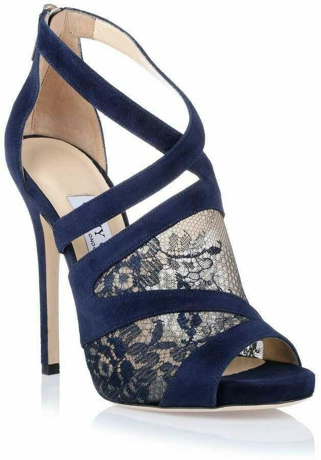 Blue high heel shoes #highheels #shoes #shoesaddict
