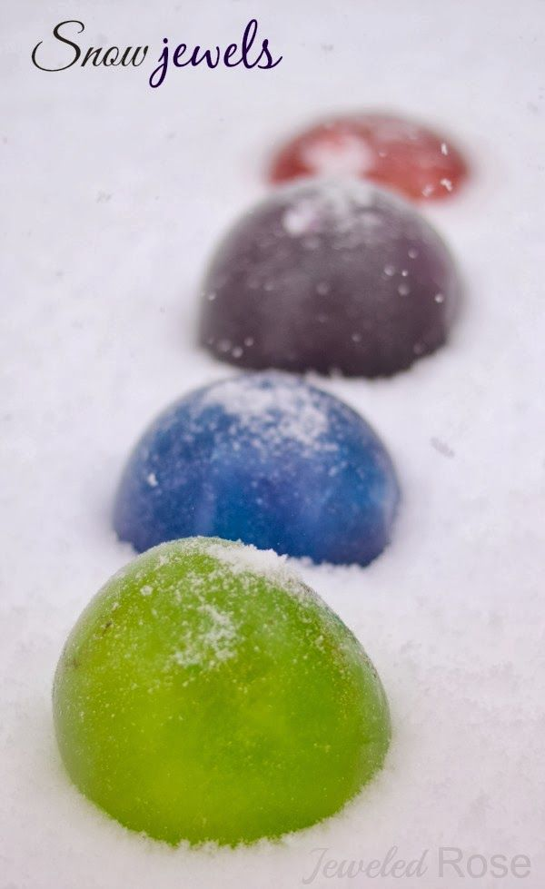 Snow Jewels- could be good for marking off areas/ making paths!