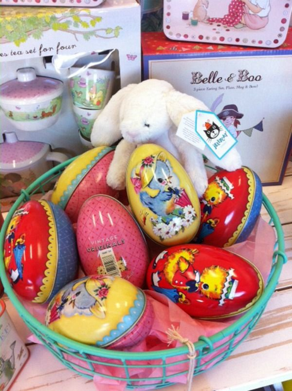 1250 best easter images on pinterest bunny rabbit easter and lime tree kids easter gifts vintage medium tin egg negle Images