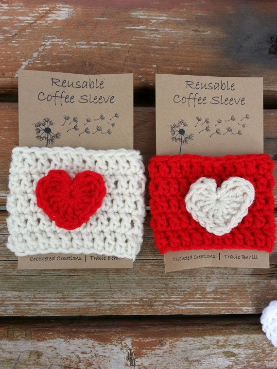 Crochet Coffee sleeve- ADORABLE gift for those coffee lovers!!