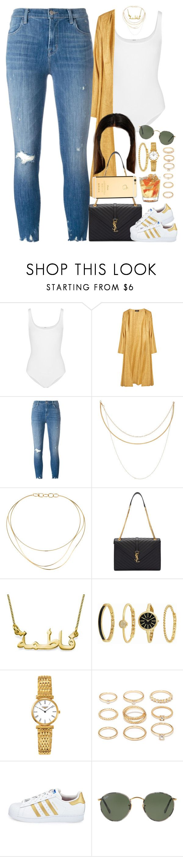 """""""21 December, 2016"""" by jamilah-rochon ❤ liked on Polyvore featuring Wolford, Eskandar, J Brand, Afin Atelier, Tiffany & Co., Yves Saint Laurent, Anne Klein, Forever 21, adidas and Ray-Ban"""