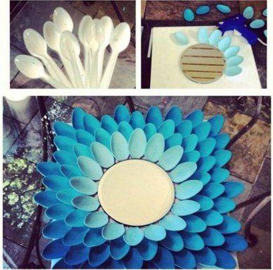 4 Ideas de manualidades con cucharas de plástico