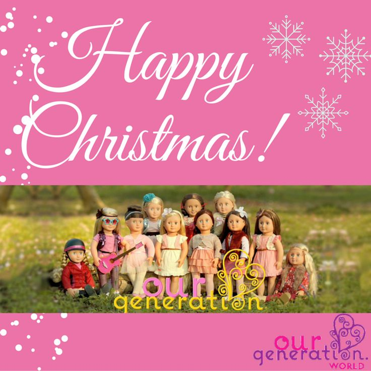 Happy Holidays from everyone at Our Generation World! We hope you have a fantastic Christmas and happy New Year.