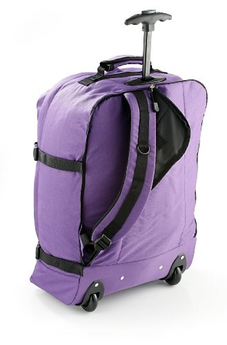 Cabin Max Flight Approved Carry on Purple Trolley Rucksack Bag 44L lightweight wheeled luggage: Amazon.co.uk: Sports & Outdoors