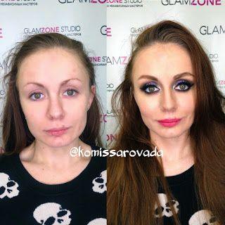 My Life Dream Blog: Береги фигуру , а лицо мы сделаем . Фото-макияж ил...