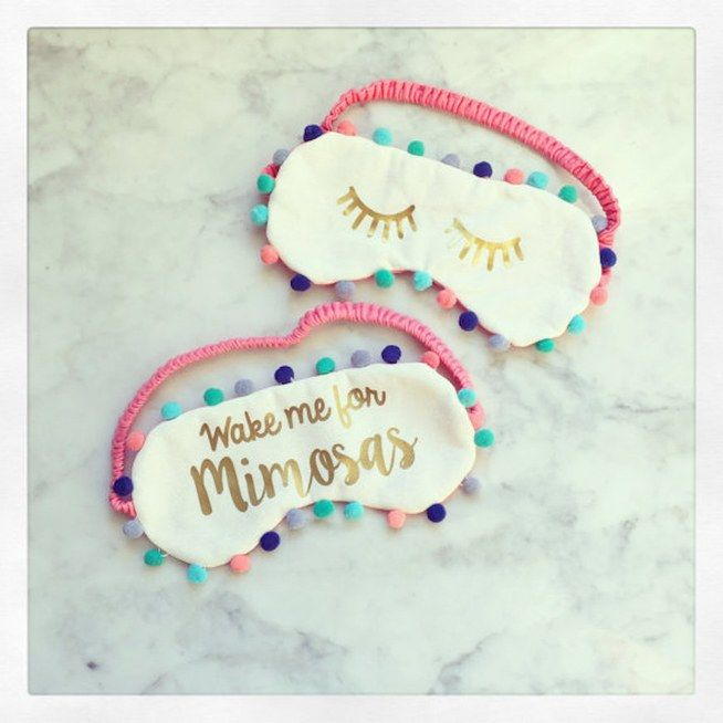 Can we talk about how cute this crafty sleep eye mask is? Your sleepy, brunch-loving friend will love this gift!