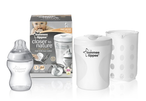 #Tommee Tippee Closer to Nature #Single #Bottle #Travel #Steriliser available online at http://www.babycity.co.uk/