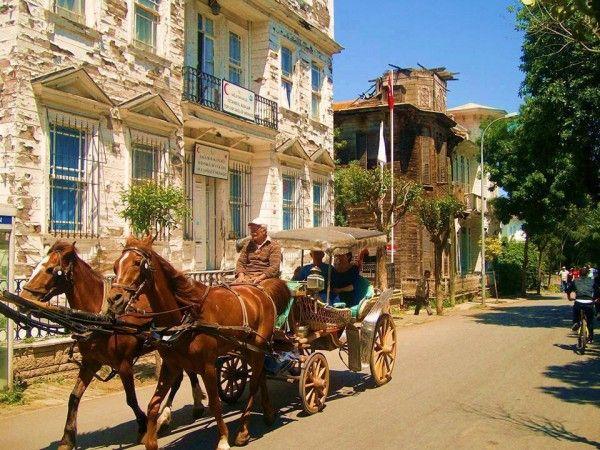 Horse Taxi in action, #Buyukada Βόλτα με άλογο στη Πρίγκηπο