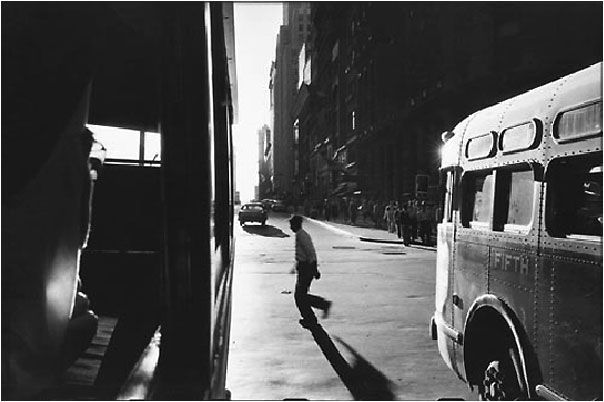 """one of my favorite photographers. urban photos. - Robert Frank """"From the Bus"""""""