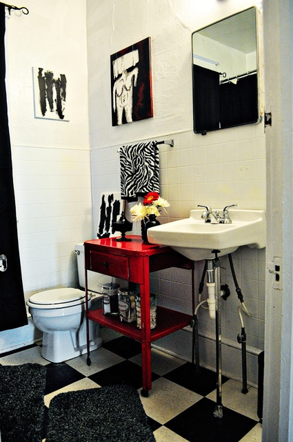 funky bathroom furniture. beautiful funky black and white bright red vintage bathroom furniture throughout funky bathroom furniture