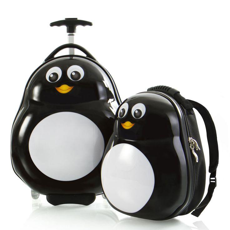 Heys Kids Travel Tots Kindertrolley 46 cm 2 Rollen mit Rucksack Penguin #kindertrolley #kinder #pinguin