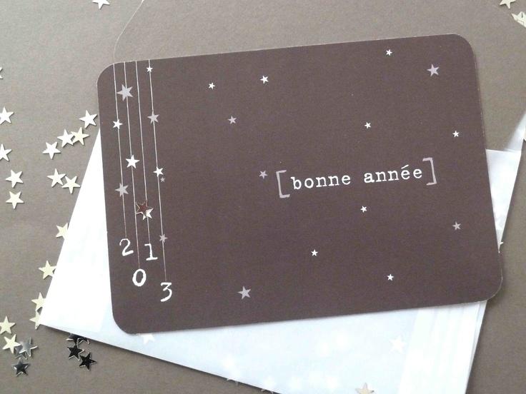 """Ma carte de voeux,""""Il neige des étoiles"""" - Les étoiles grises"""