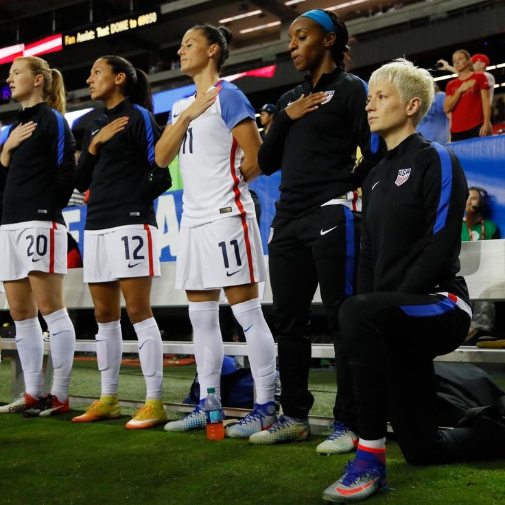 Megan Rapinoe   protested  the national anthem in solidarity with Colin Kaepernick during U.S. Women's soccer games in September, but she will adhere to the national team's  new policy  that requires players to stand moving forward...