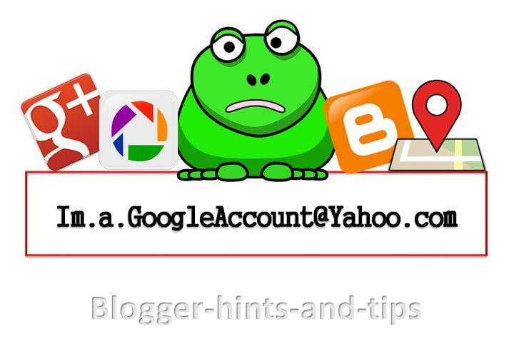 Google accounts vs Blogger accounts