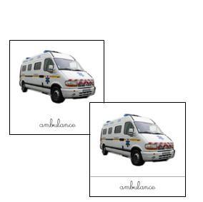 Cartes de nomenclature «ambulancier»
