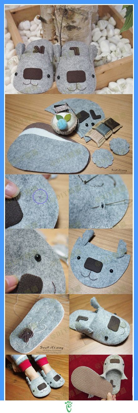 how to: koala slippers