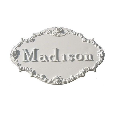 Bella Rose Name Plaque from PoshTots ~ Personalization Makes A Nursery Special ~  PoshTots Nursery