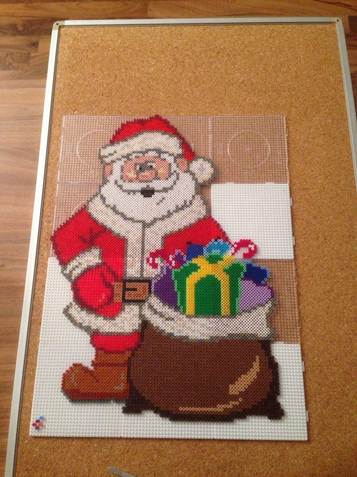 Santa Claus Weihnachtsmann Perler Beads Bügelperlen Weihnachten