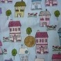 Tissu américain maisons 100% coton, 80x90cm, 10€