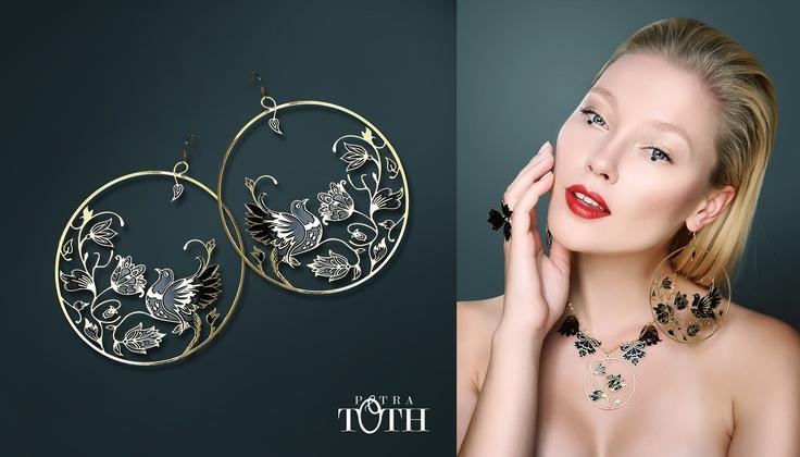 Beautiful Slovakian folk earrings by Petra Toth Jewellery. www.petratoth.sk