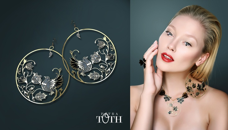 Beautiful Slovakian folk earrings by Petra Toth Jewellery. www.petratoth.sk