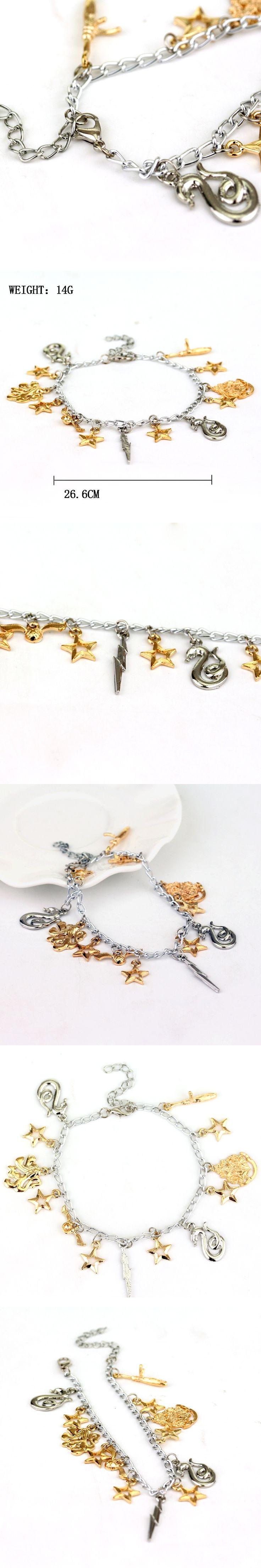 Slytherin Snitch Bracelet for Women and Men, Gryffindor school badge Jewelry Charm bracelet for men hamsa hand pulseras Bangles