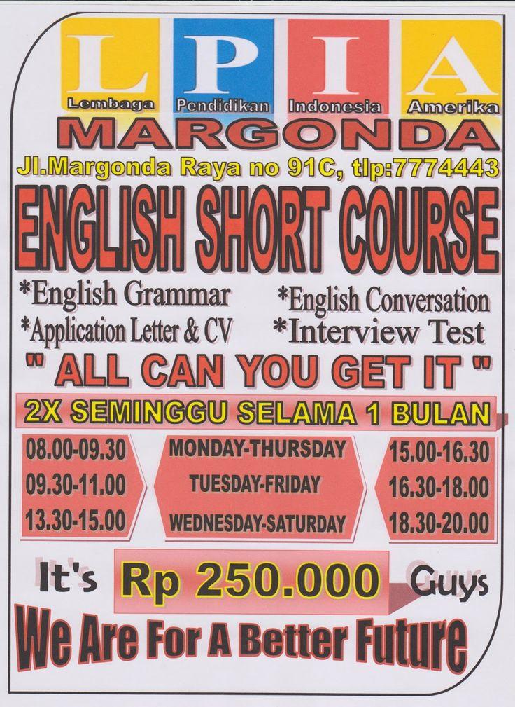 English Course & Computer Course: English Short Course - LPIA Depok