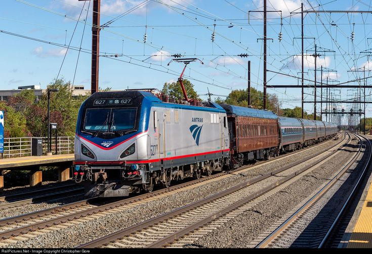 RailPictures.Net Photo: AMTK 627 Amtrak Siemens ACS-64 at Edison, New Jersey by Christopher Gore