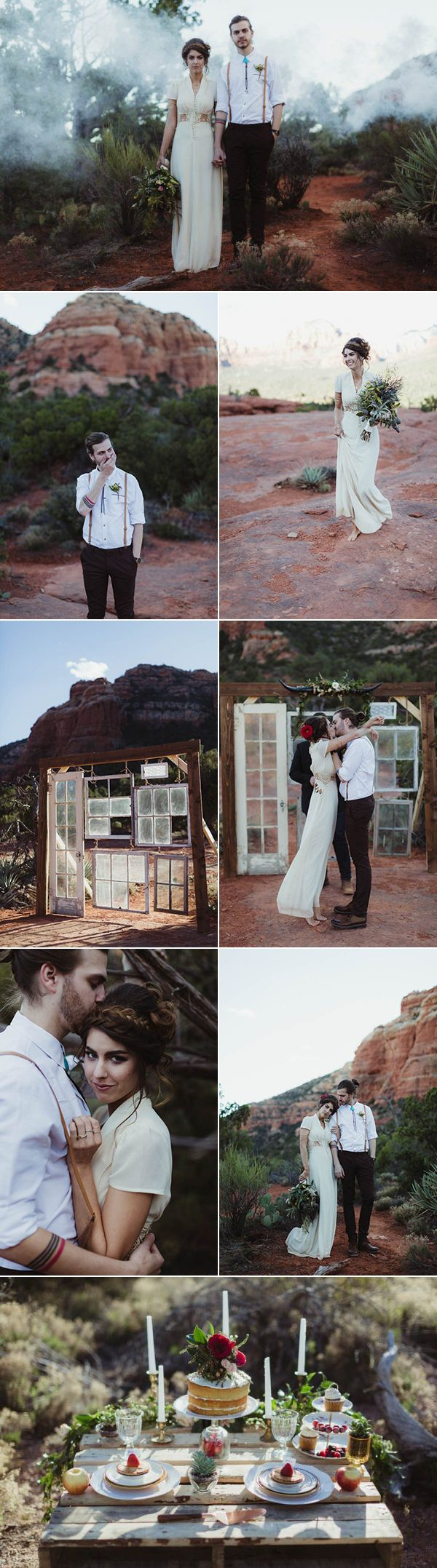 The decor in this intimate Yavapai Point elopement is to die for | Images by Andy Roberts Photography
