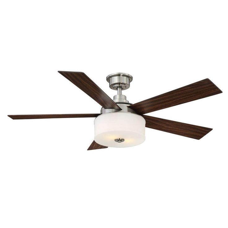 Home Decorators Collection Lindbrook 52 in. Brushed Nickel Ceiling Fan-YG336-BN - The Home Depot