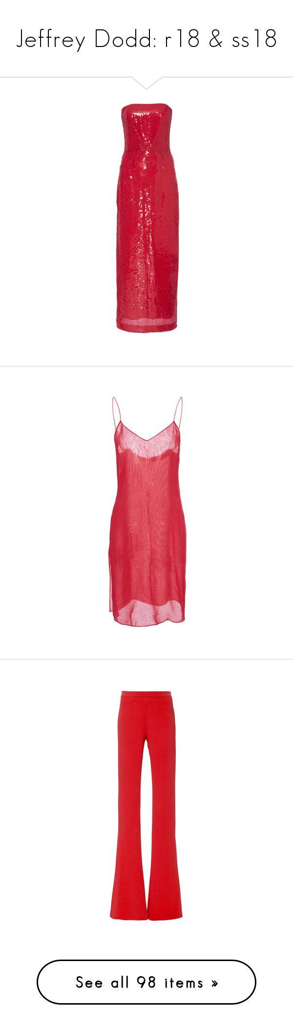 """Jeffrey Dodd: r18 & ss18"" by livnd ❤ liked on Polyvore featuring livndfashion, resort2018, livndjeffreydodd, JeffreyDodd, dresses, gowns, red, strapless gown, strapless bustier and bustier dress"