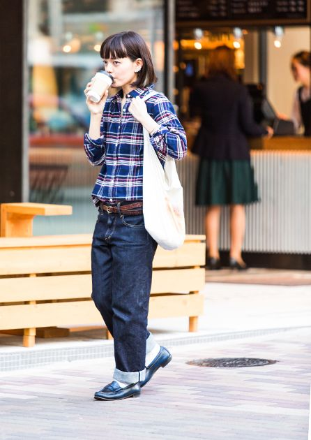 FUDGE.JP – MUJI Special Snap NO.18  Muji Bottoms : I am I Shoes : REGAL