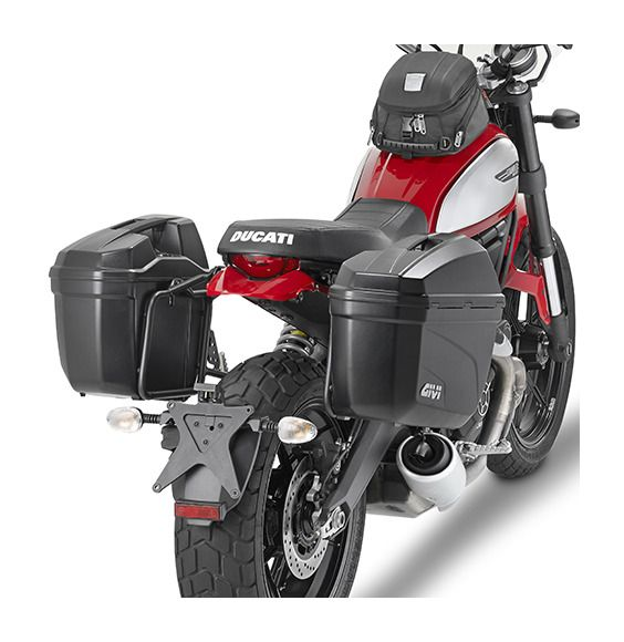The bike specific PL7407 side racks from Givi give you the ability to mount Monokey Side Cases to your ride, providing a safe and secure platform to carry yo...