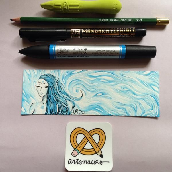 Twitter user @artcoty experimenting with our #watercolour #markers to great effect!